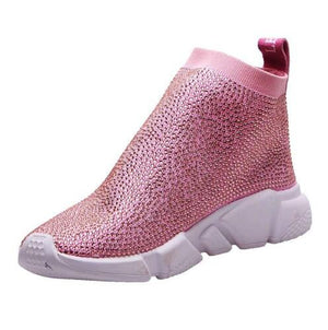 Crystal Sneakers - Speed Trainers - Crystal Speeds - Rhinestone Sneakers - Women Sneakers - The JfJ