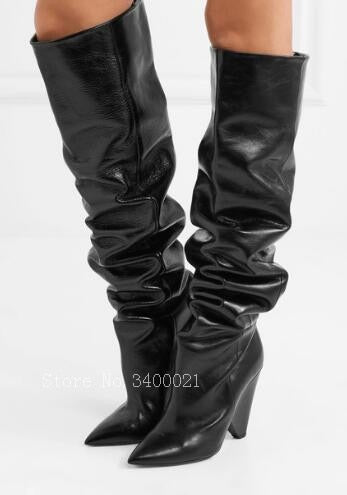 Crystal Swarovski Slouch Boots/booties  Niki 105 - The JfJ