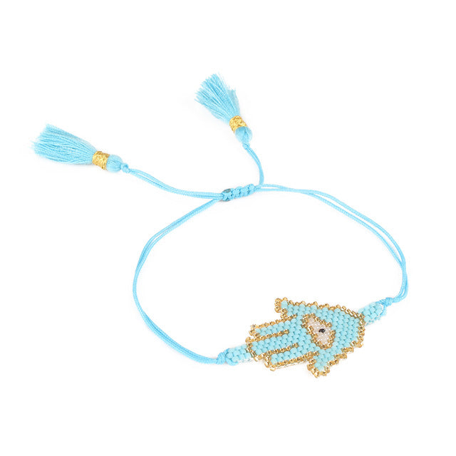 Evil Eye Hamsa Handmade Bracelet - The JfJ