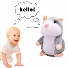 Talking Hamster Plush Toy, Repeat What You Say Funny Kids Stuffed Toys, - The JfJ