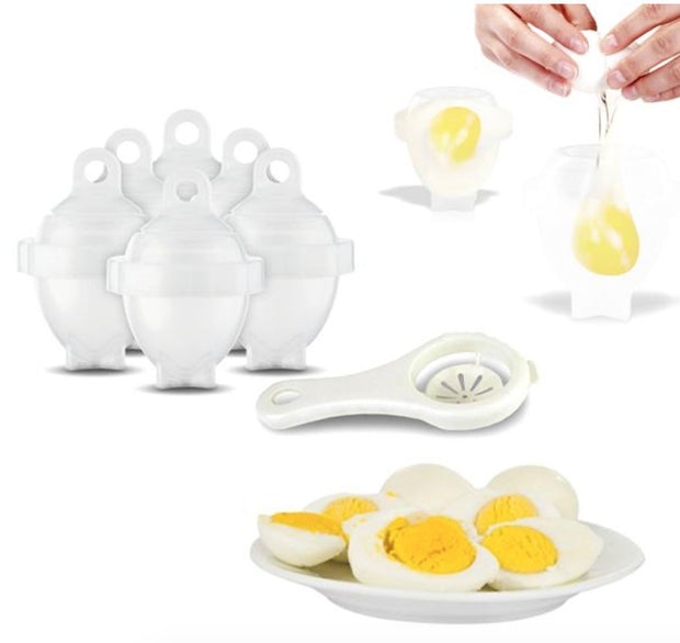 6 Pack: Egg Cookers With Bonus Egg White Separator - The JfJ