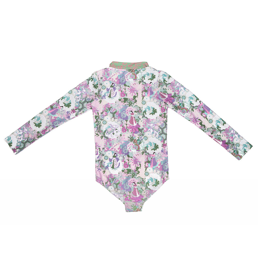 Ancient Circus Violet Long Sleeve Zip One Piece