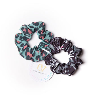 Black Jungle Scrunchies (2 Pack)