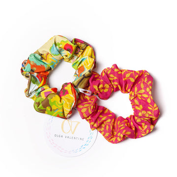 Ancient Circus Gold Scrunchies (2 Pack)