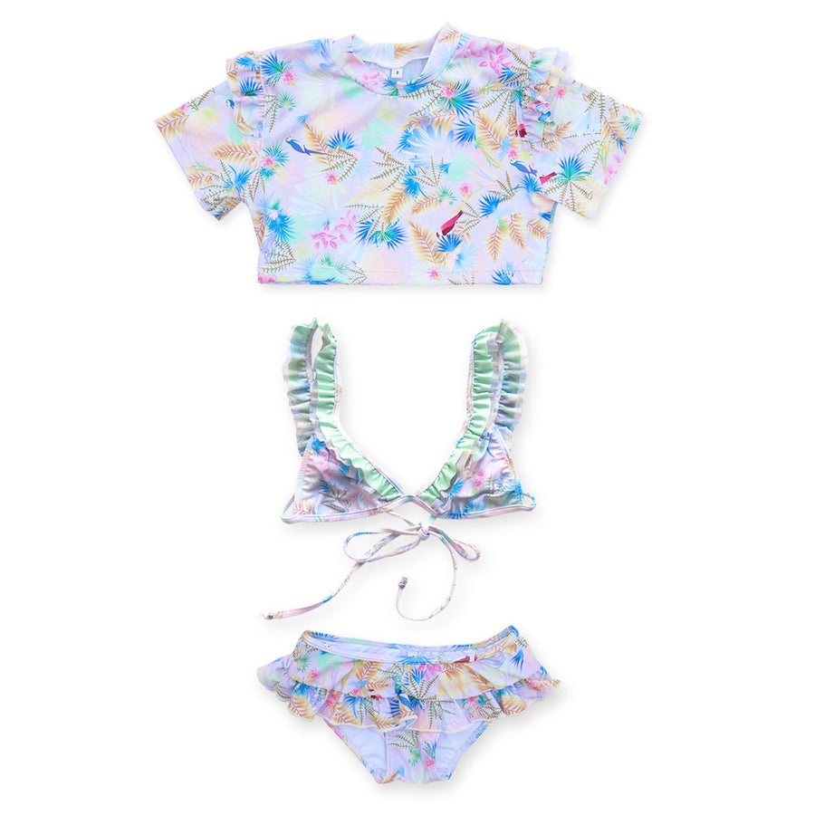 Tropical Bird Pink 3 Piece Set