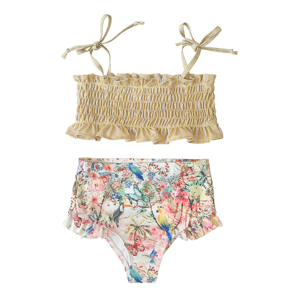 Secret Garden Ruching Bikini
