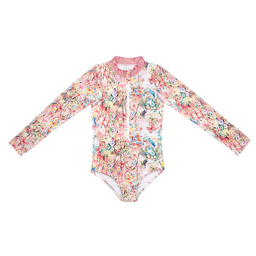 Secret Garden Longsleeve Zip One Piece