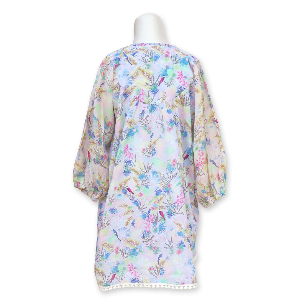 Tropical Bird Pink Kaftan