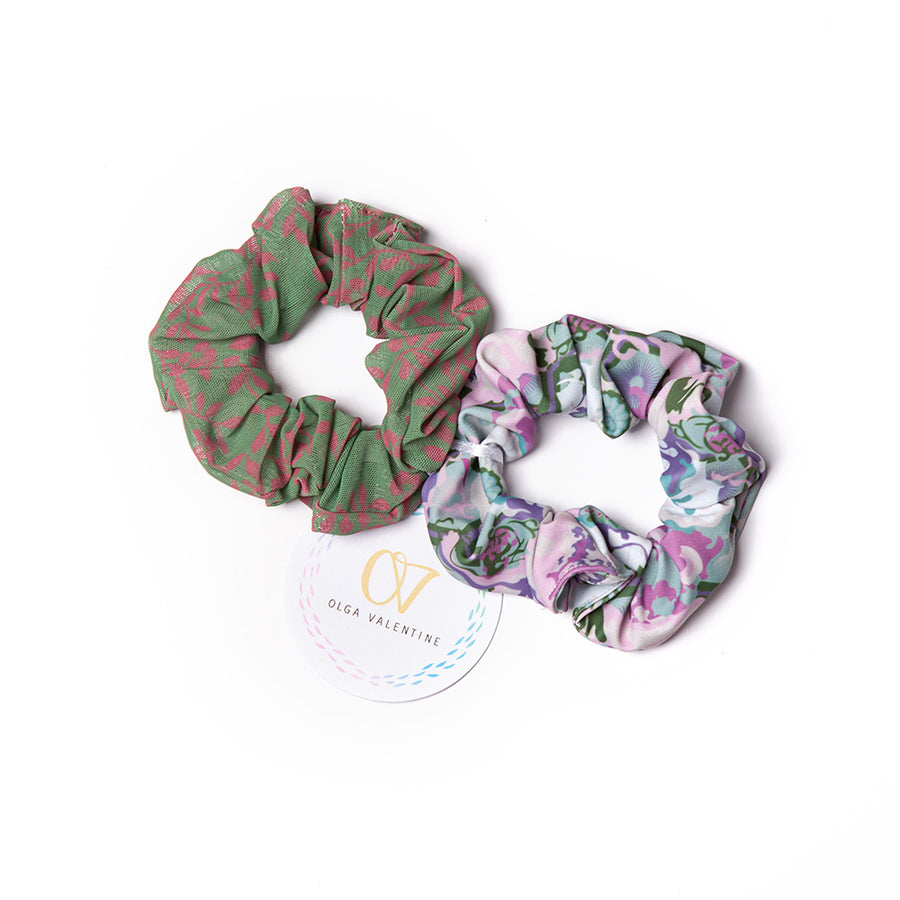 Ancient Circus Violet Scrunchies (2 Pack)