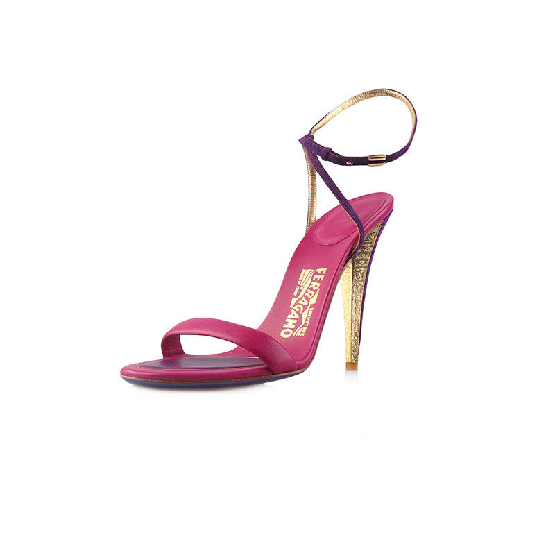 Blejan pink and purple sandals-Washed And Found