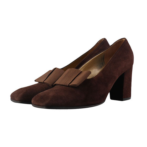 Brown suede heels-Washed And Found