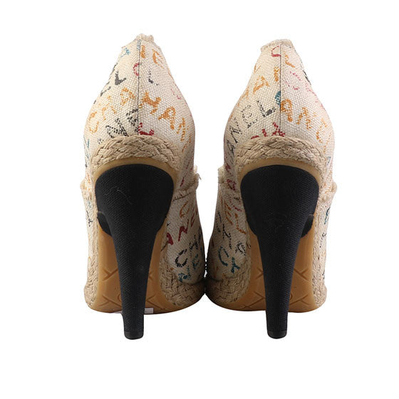 Round toe pumps-Washed And Found