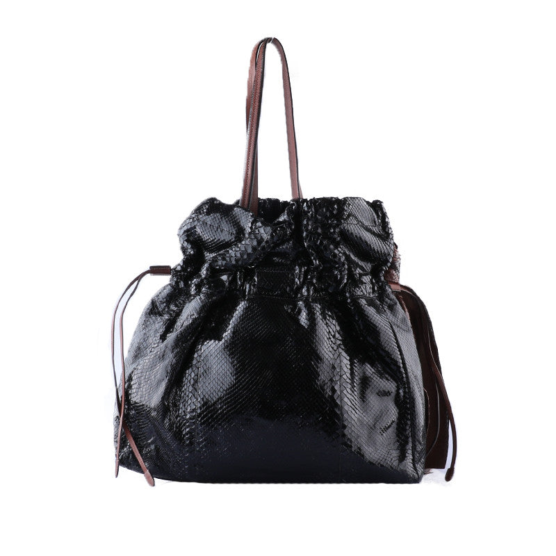 Black python bag-Washed And Found