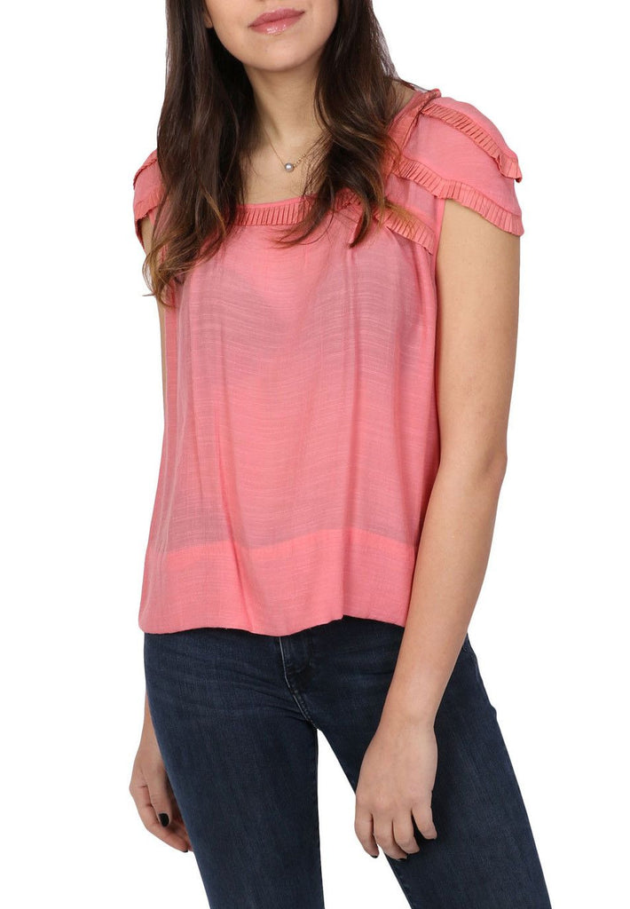 Loose pink top-Washed And Found