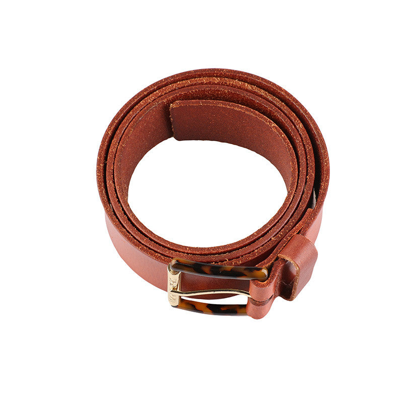 Brown leather belt-Washed And Found