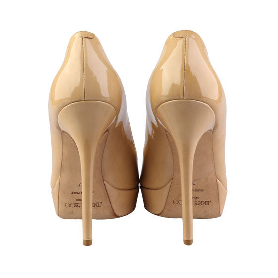 Nude patent pumps-Washed And Found