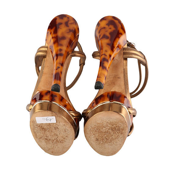 Leopard print platform sandals-Washed And Found