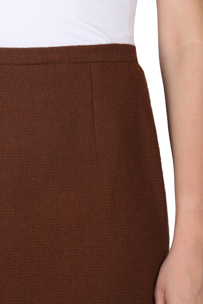 Vintage brown wool skirt-Washed And Found