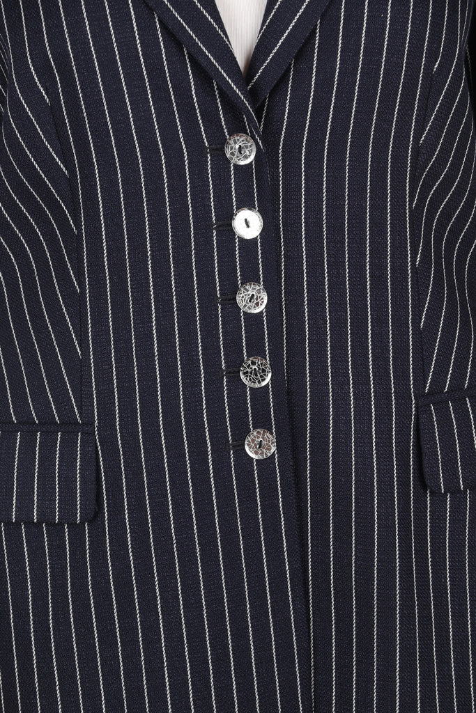 Pinstripe fitted blazer-Washed And Found