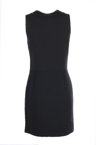Embellished black dress-Washed And Found