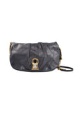 Keyhole Vlada black leather shoulder bag-Washed And Found
