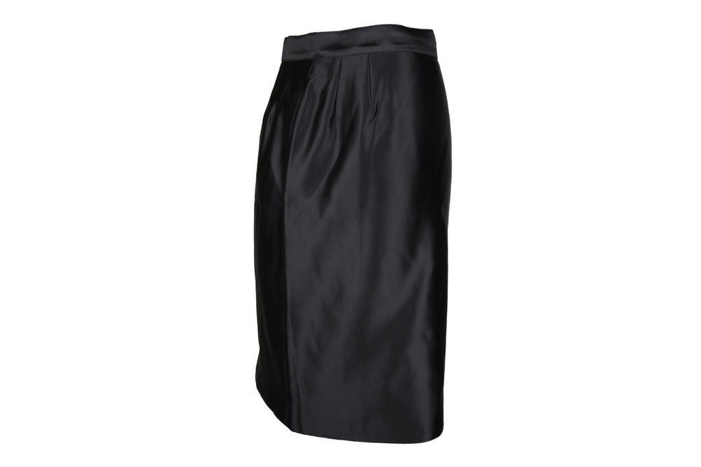 Glossy Mid Length Skirt-Washed And Found