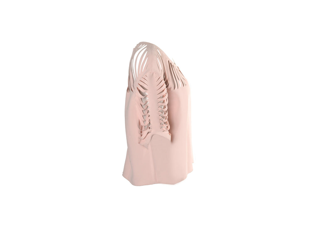 Pink cut out top-Washed And Found