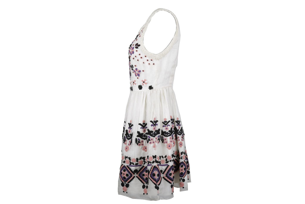 Beaded and embroidered flouncy Bala dress-Washed And Found