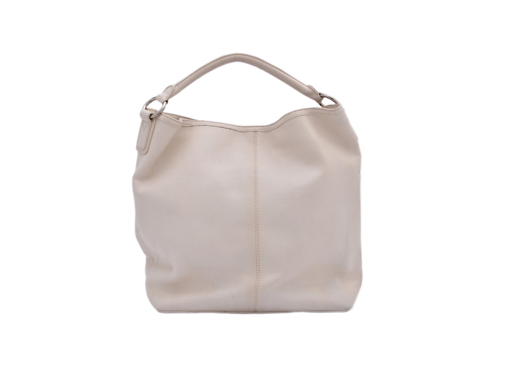 White leather handbag-Washed And Found