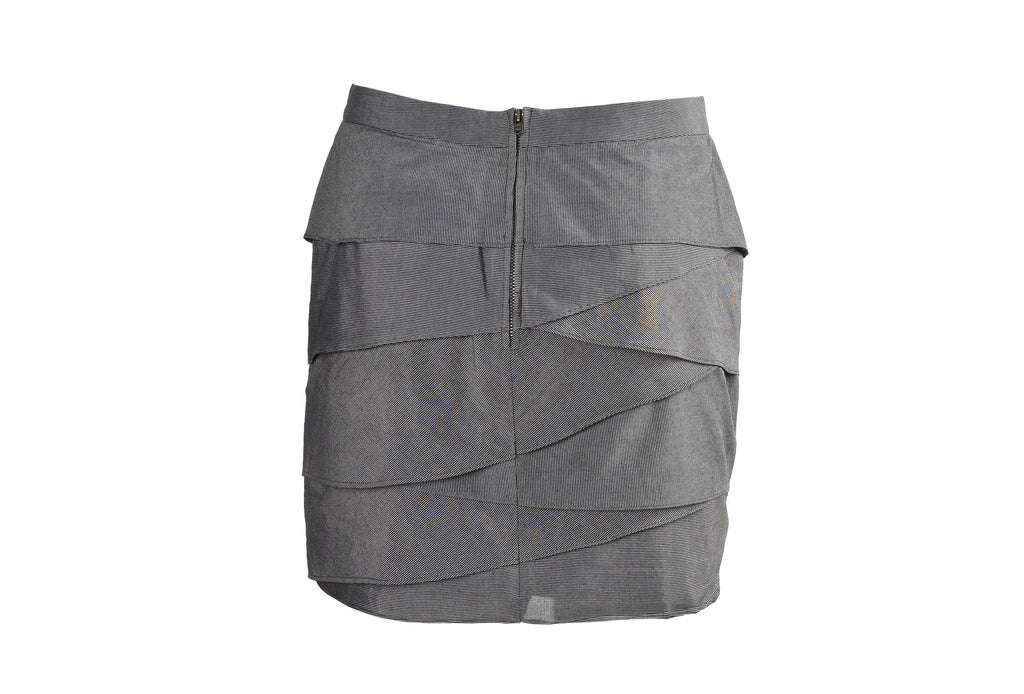Pinstripe mini skirt-Washed And Found