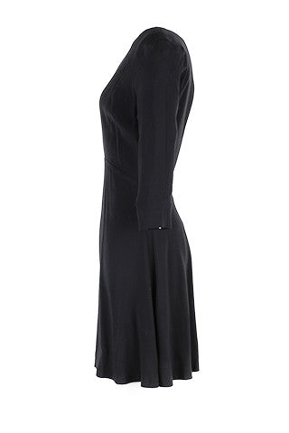 Black open back dress-Washed And Found