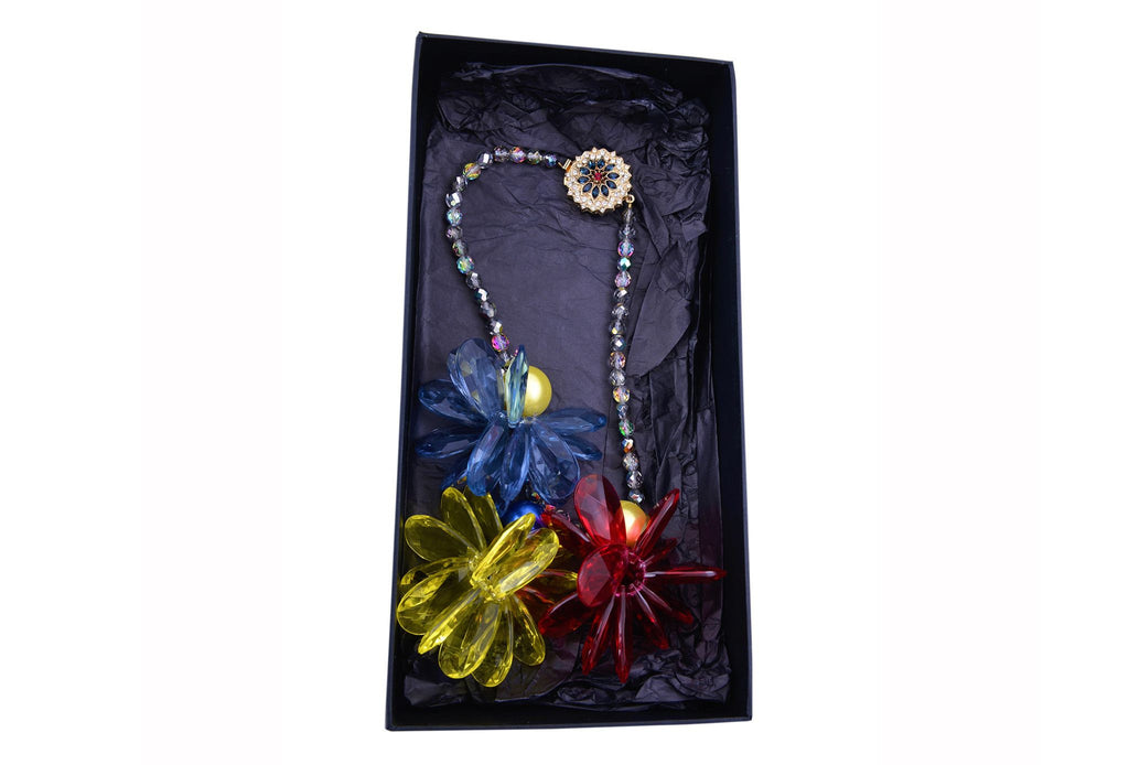 Multi-coloured shapely necklace-Washed And Found
