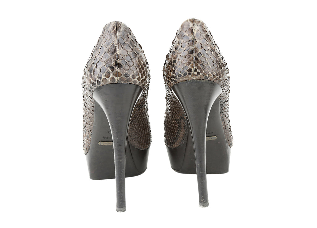 Python leather pumps-Washed And Found