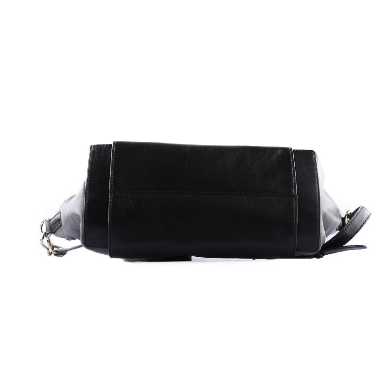 Square black and grey handbag-Washed And Found