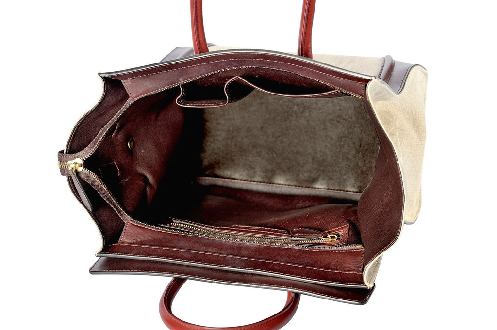 Mini luggage linen tote-Washed And Found