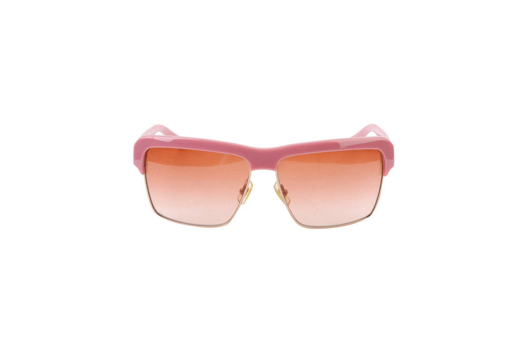 Sonnenbrille semi-framed pink sunglasses-Washed And Found