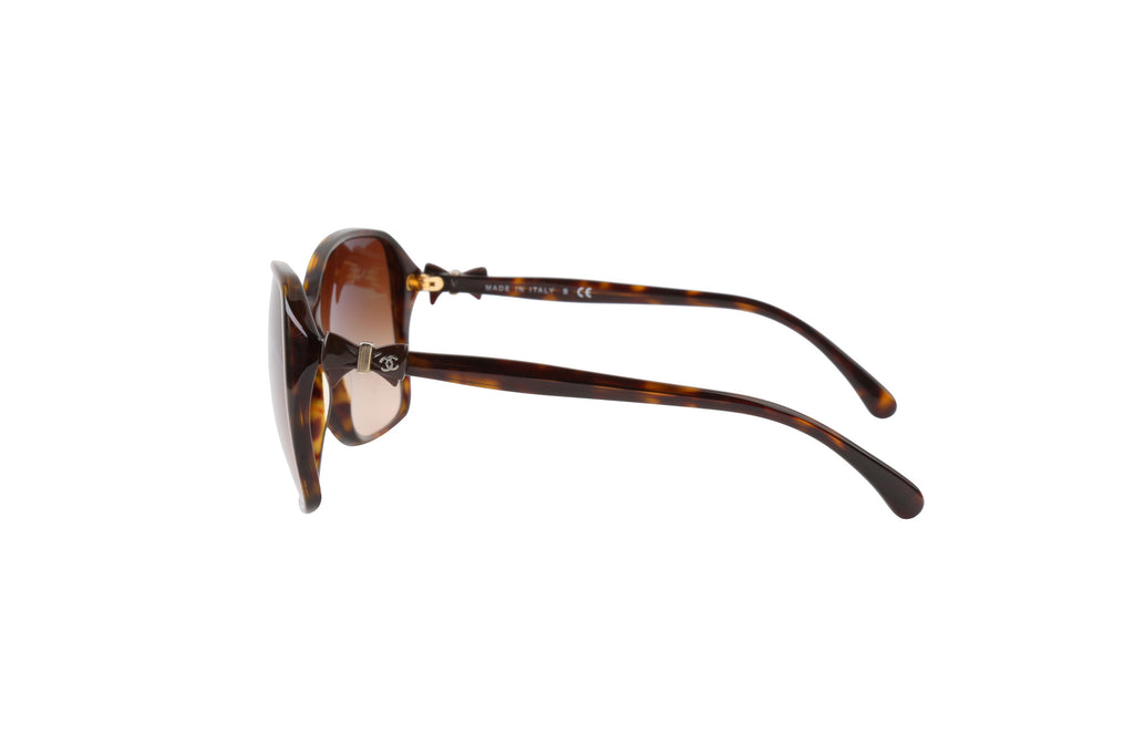Brown bow sunglasses-Washed And Found