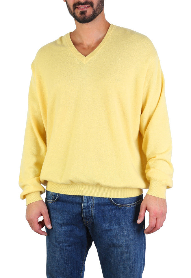 V Neck Cashmere Sweater-Washed And Found