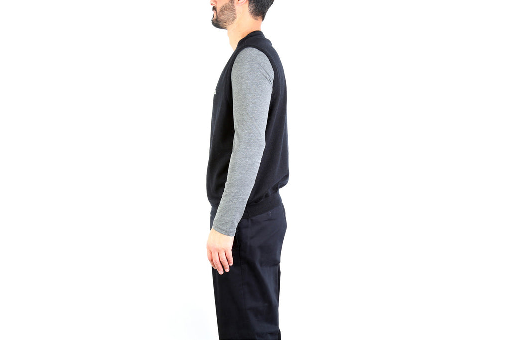 V Neck Golf Sweater Vest-Washed And Found