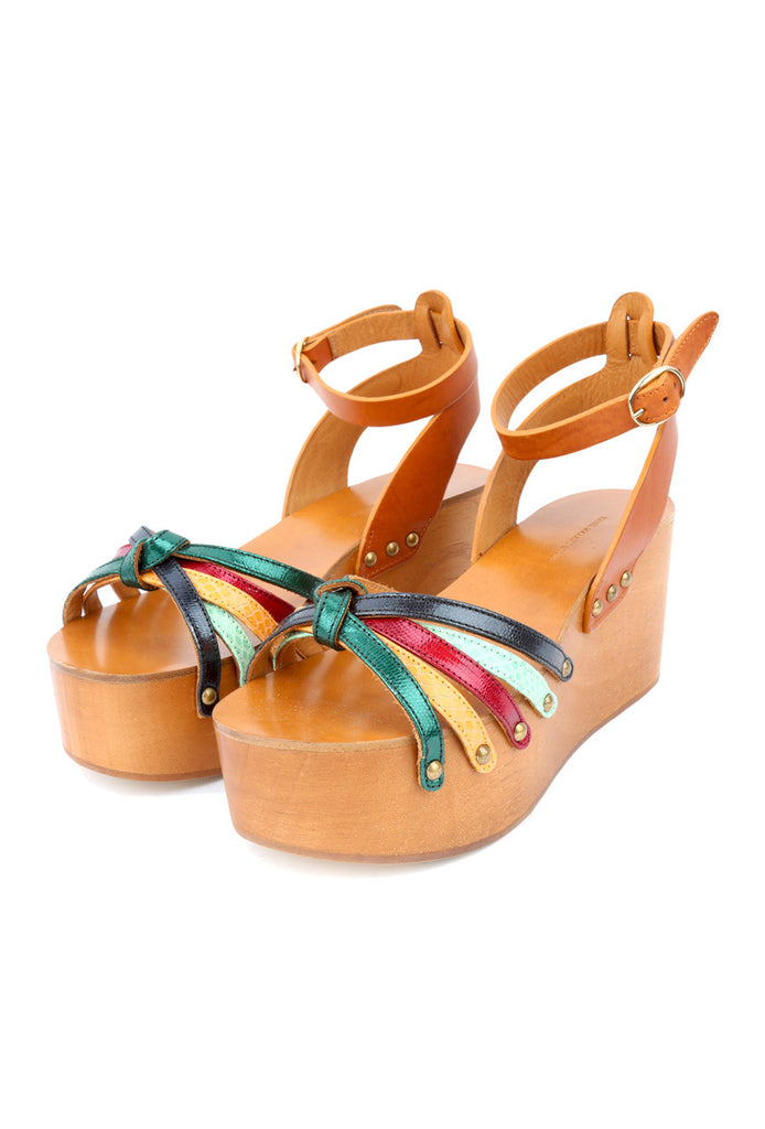 Multicolor Wood Wedges-Washed And Found