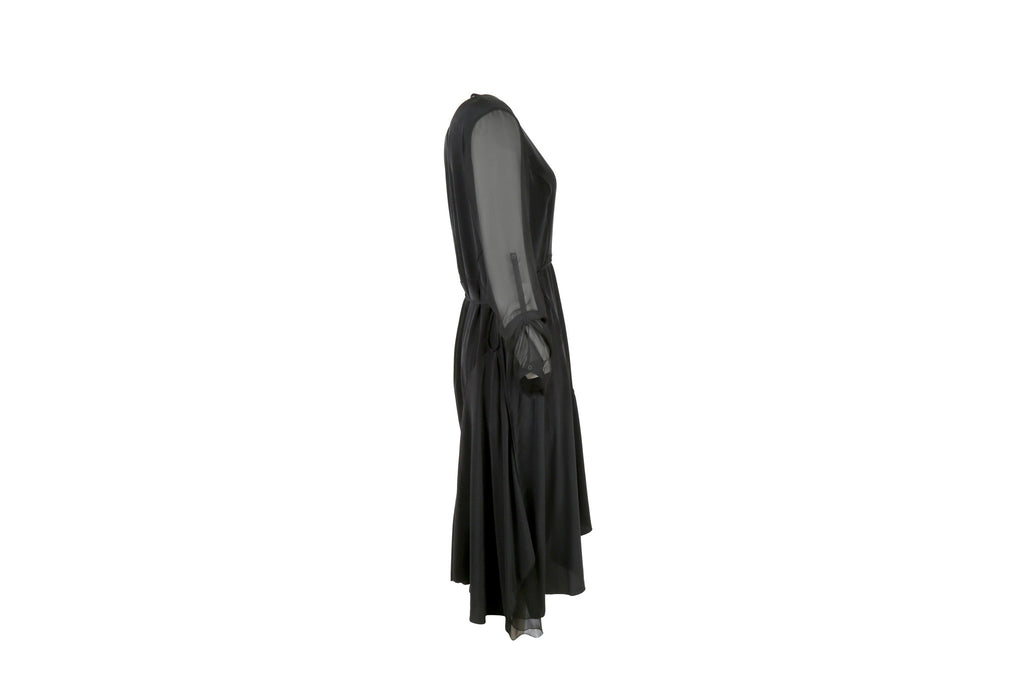 Midi Black Dress-Washed And Found