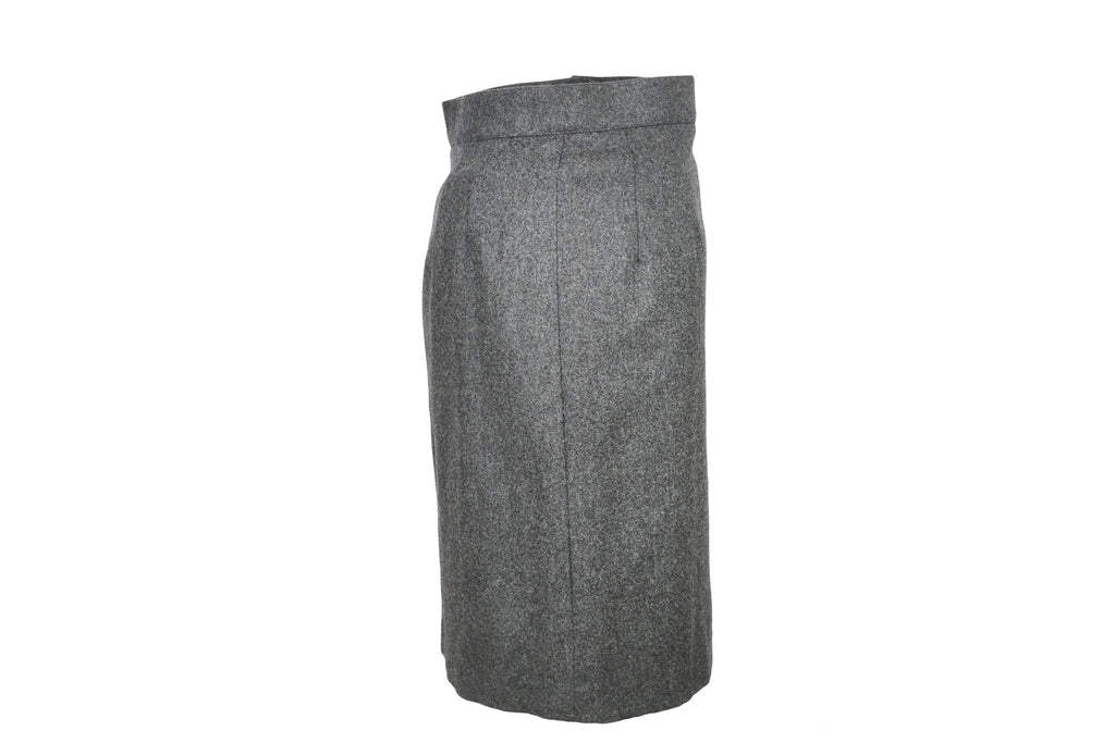 Grey Wool Skirt-Washed And Found