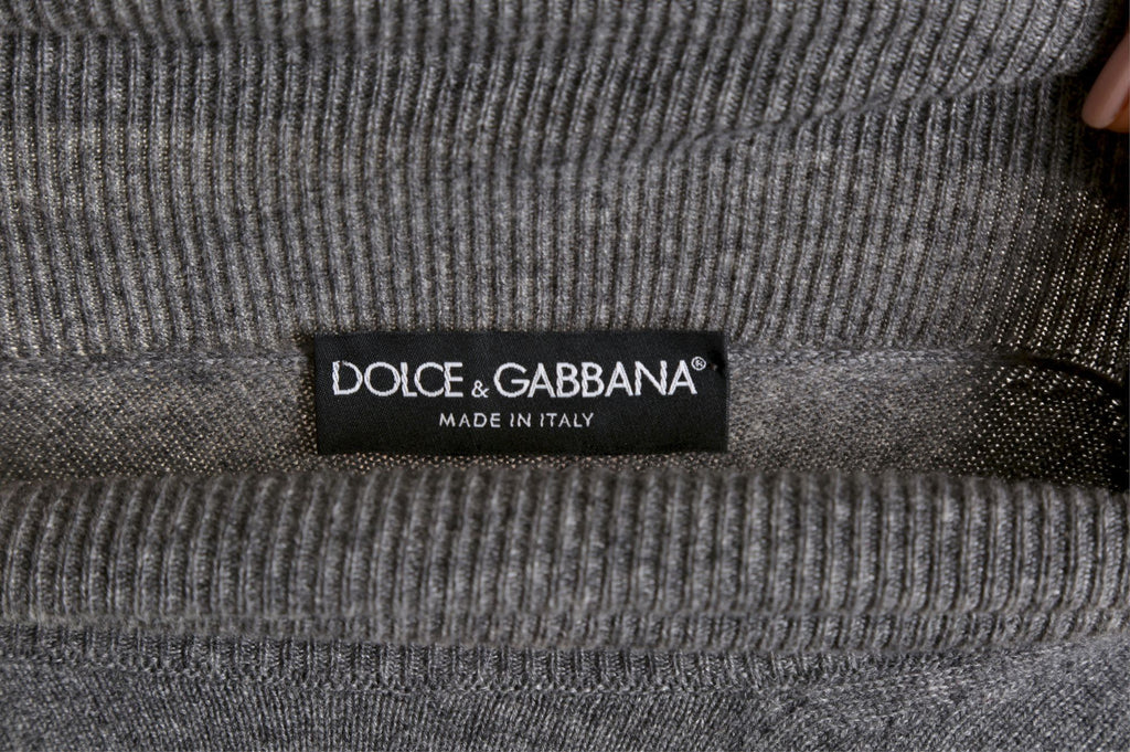 Grey cashmere sweater-Washed And Found