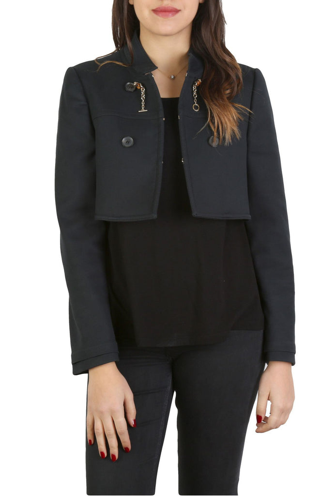 Navy Cotton Jacket-Washed And Found