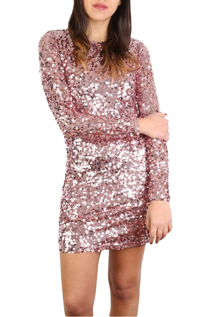 Sequin coktail dress-Washed And Found