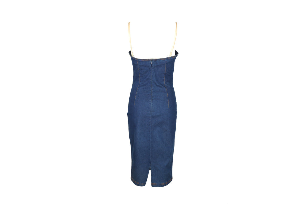 Denim Stretch Dress-Washed And Found