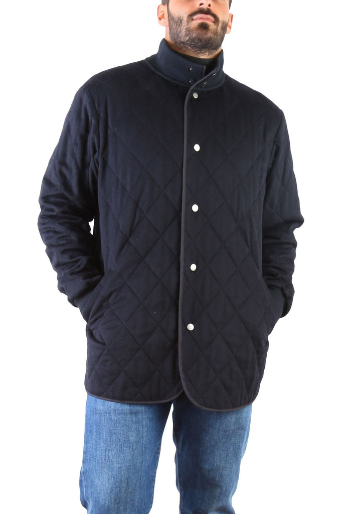 Quilted Black Jacket-Washed And Found