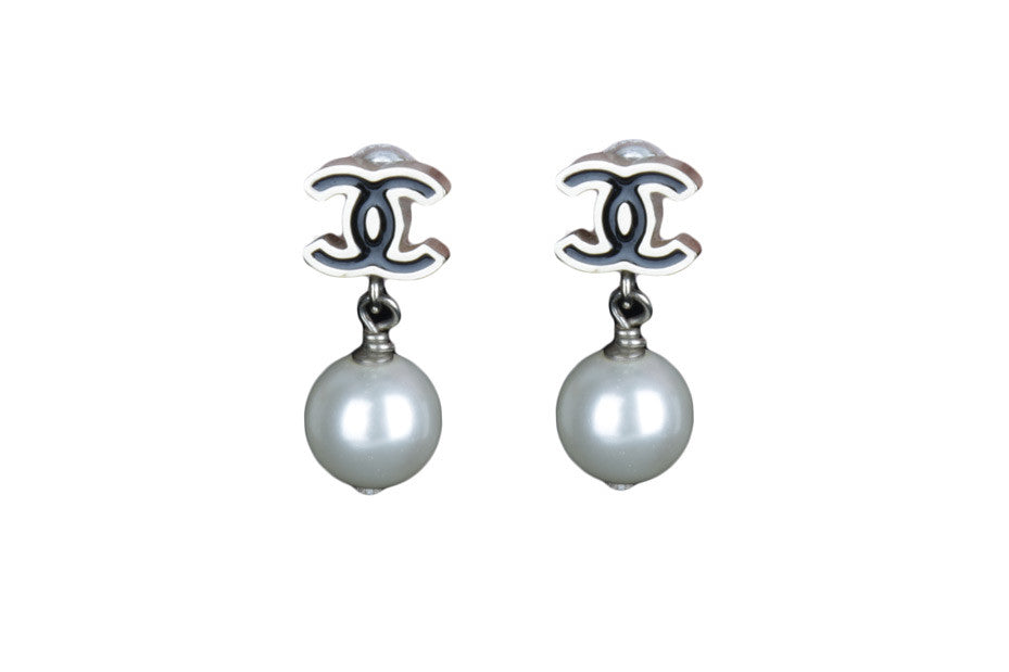 Faux pearl drop and dangle earrings-Washed And Found