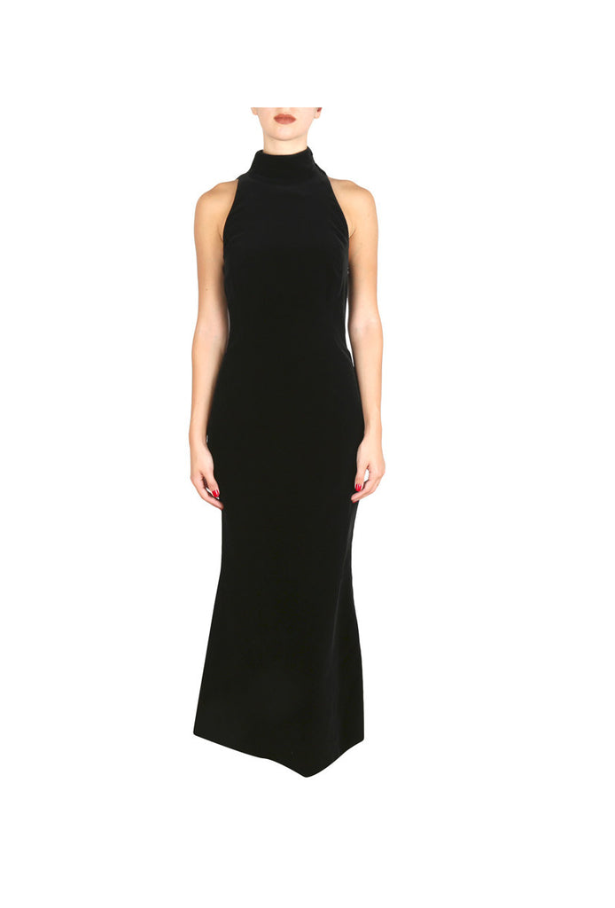 Velvet High-Neck Gown-Washed And Found