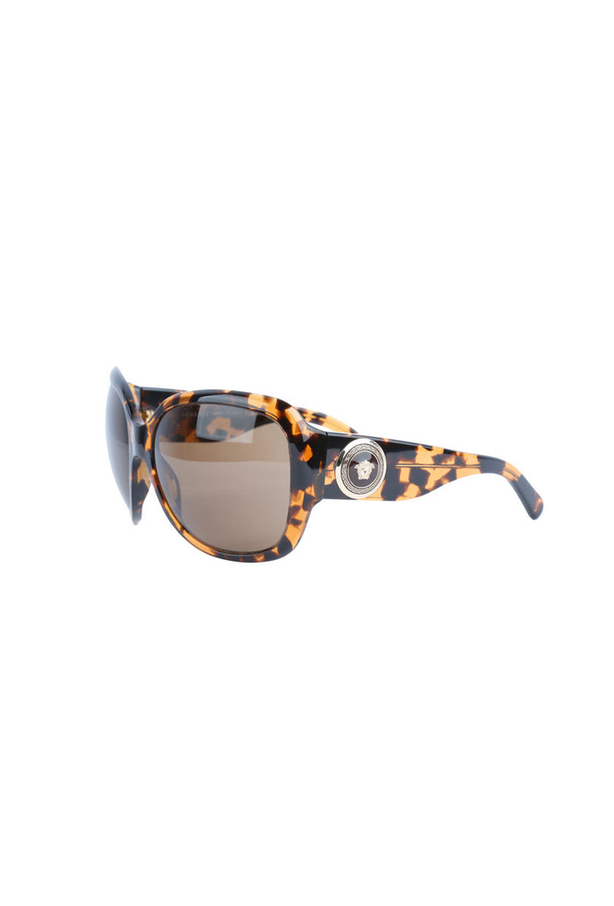 Leopard Pattern Hard-Frame Sunglasses-Washed And Found